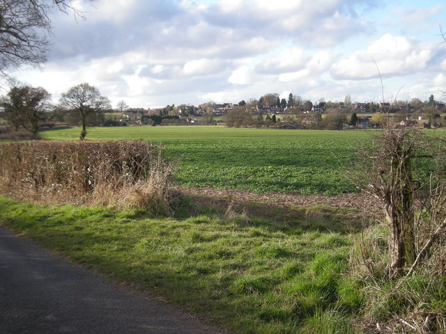Across the fields to Kemberton