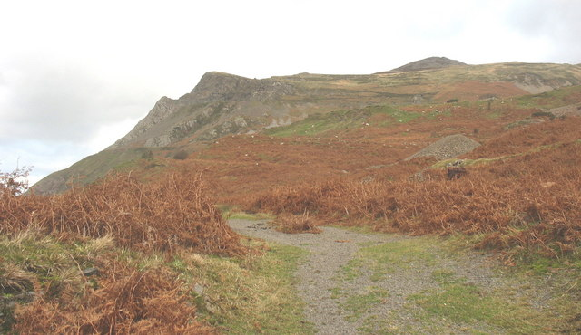 Track from the beach to Porth y Nant village