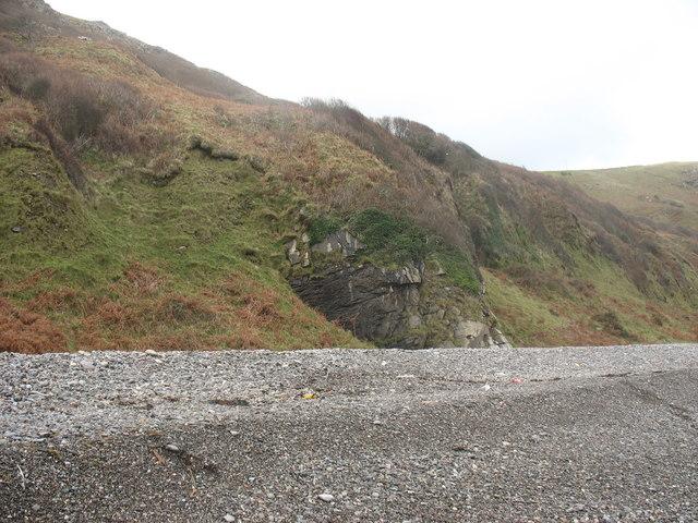 Berms on Porth y Nant beach