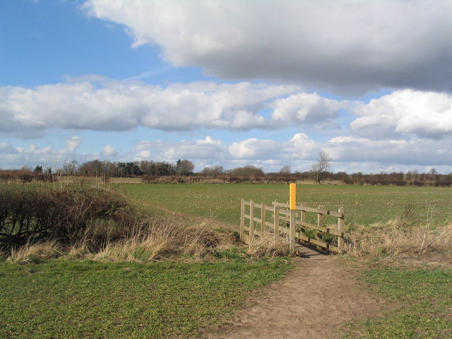 Footpath towards Normanton on Soar