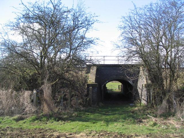 Tunnel below mainline railway