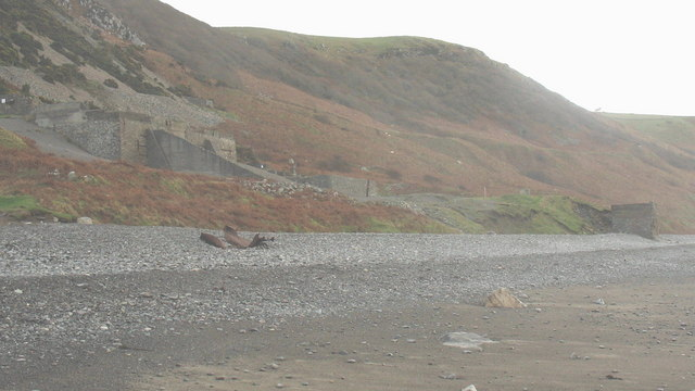 The remains of Amy Summerfield lying on a berm below the quarry
