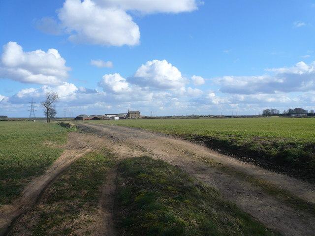 Farmtrack near Glapwell