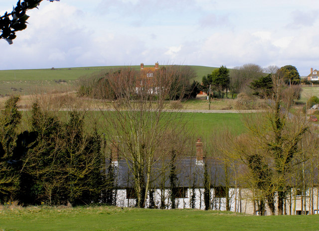 Looking north from the Churchyard at Bishopstone