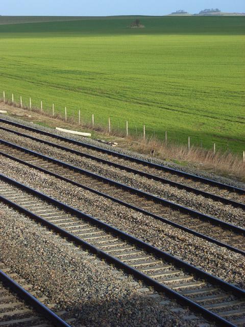 Farmland and railway, Cholsey