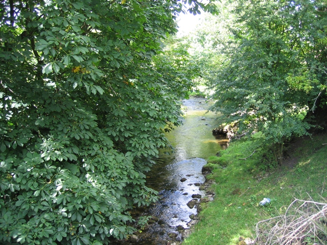 The River Aire north of Hanlith Bridge