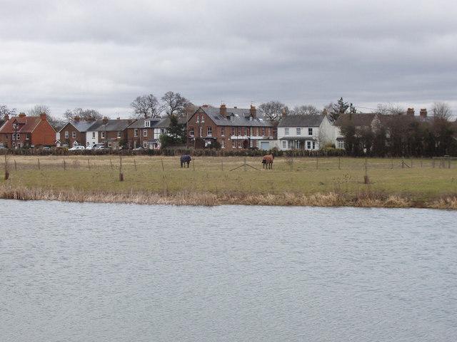 Marsh Lane houses from Jubilee River