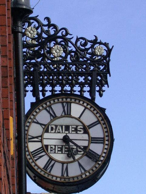 Dale's Brewery Clock, Gwydir Street