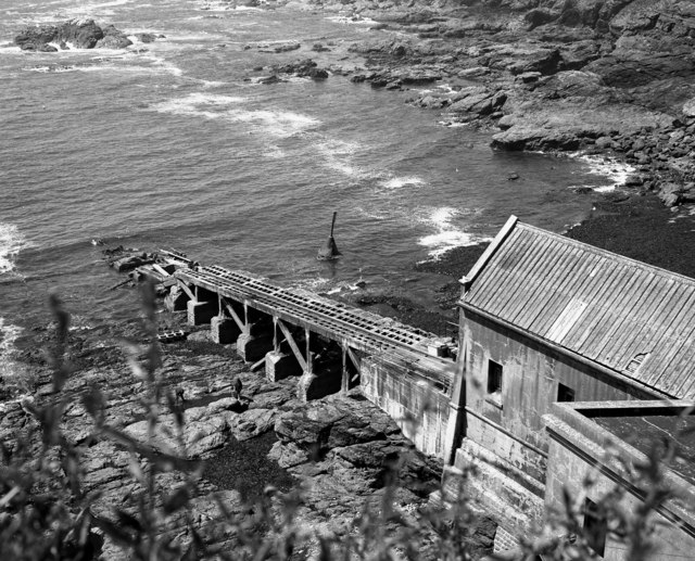 Old lifeboat house and slipway, Lizard