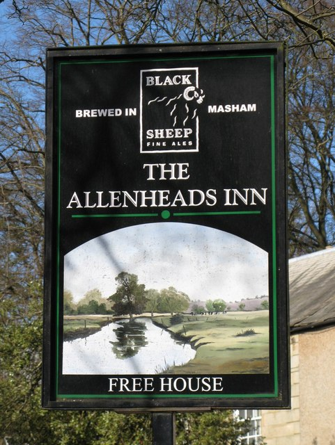 Sign for the Allenheads Inn