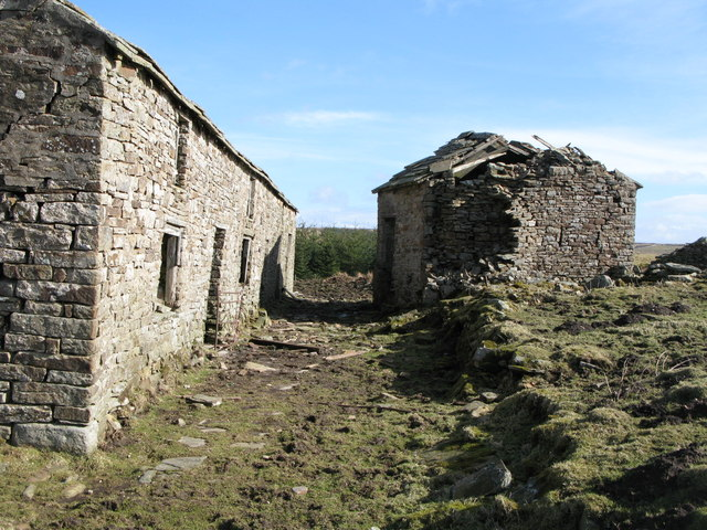Ruined house and barn above Allenheads