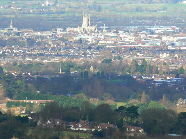 Cathedral Church of St Peter and the Holy and Indivisible Trinity from Painswick Beacon