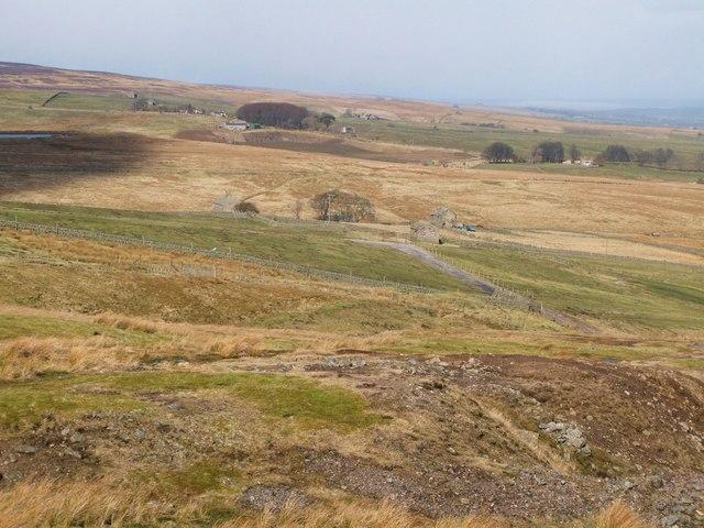Farmland below West End