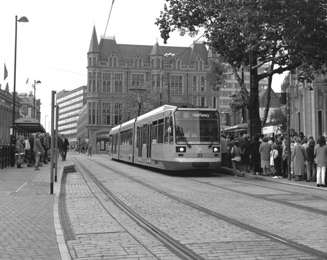 Sheffield Cathedral tram stop