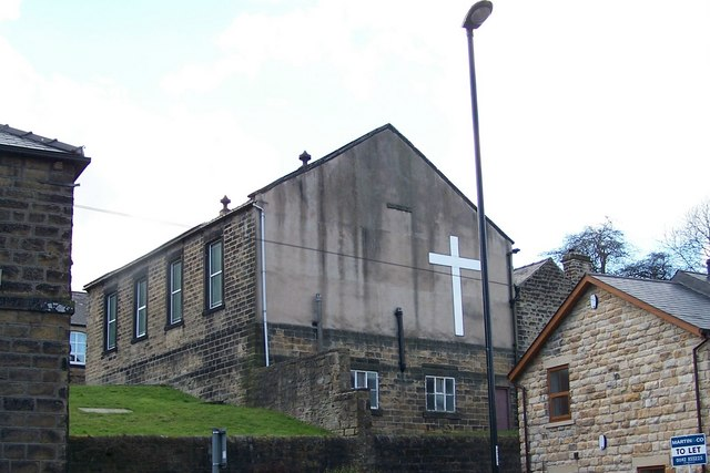Rear view of Zion Chapel, from Low Road, Oughtibridge