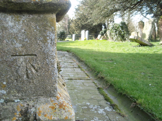 Bench Mark St James Church, Thurning