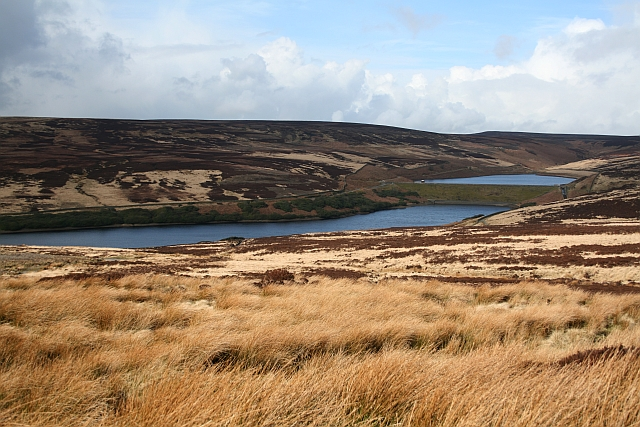 Middle and Upper Walshaw Dean Reservoirs