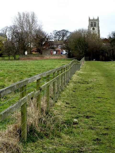 Public footpath in Preston