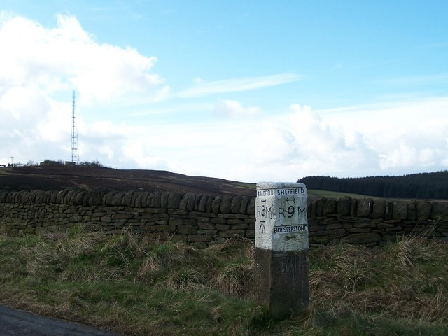Milestone and West Nab Wireless Transmitter Mast