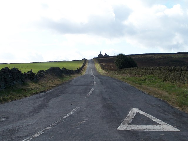 View up Bolsterstone Road to Rocher Flats