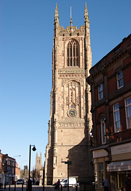 Derby cathedral tower