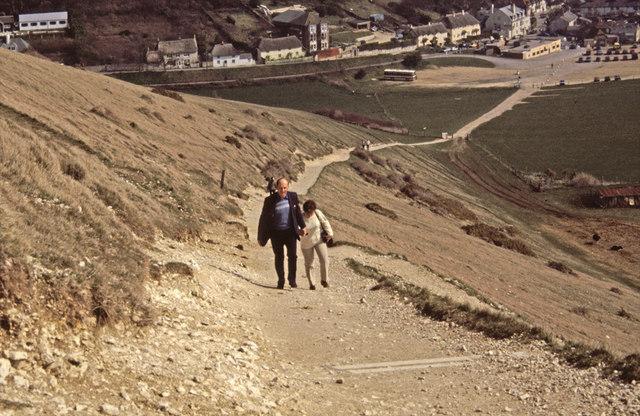 Pathway to Lulworth Cove, Dorset