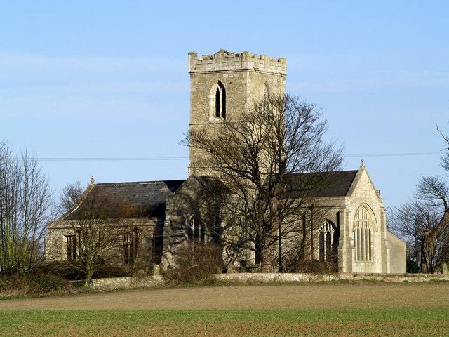Paull Church from near the Tidal Lagoon