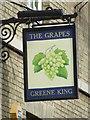 The Grapes pub sign Brentgovel Street Bury St.Edmunds Suffolk.