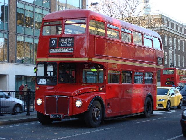 Heritage Routemaster running off service