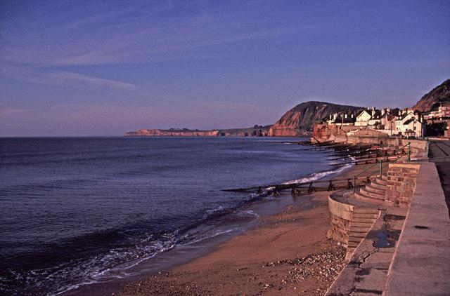 Sidmouth promenade and beach, Devon