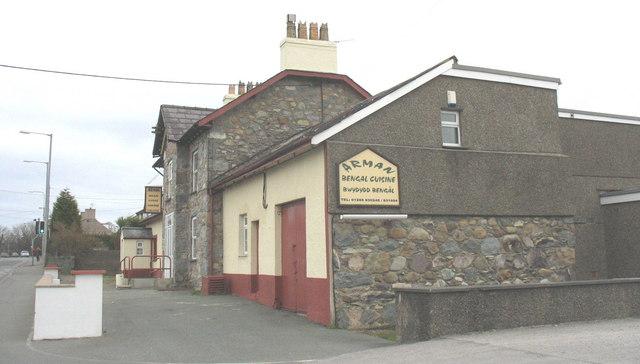 Once the village pub, now the Arman Bengali Restaurant