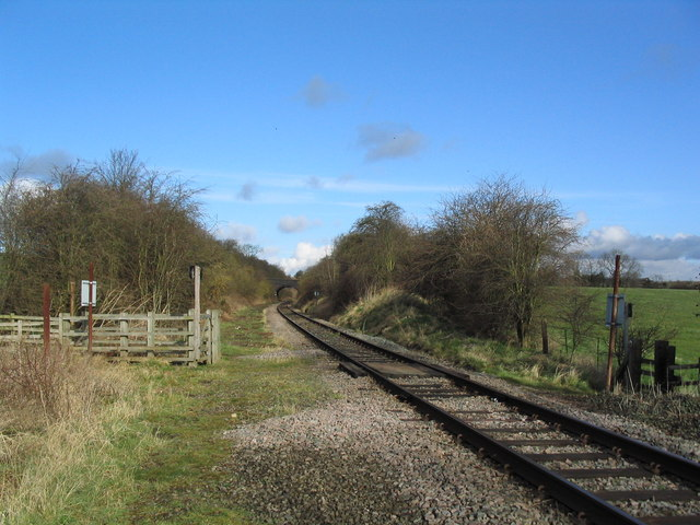 Footpath crossing Great Central Railway line