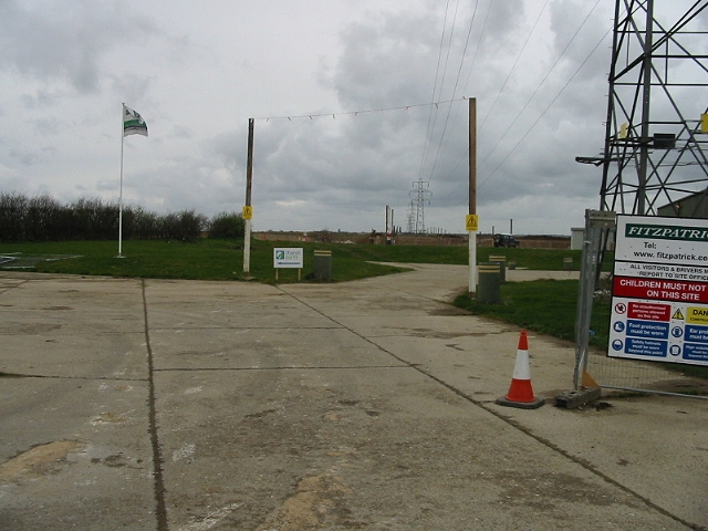 View along the power lines at Monkton Road Farm
