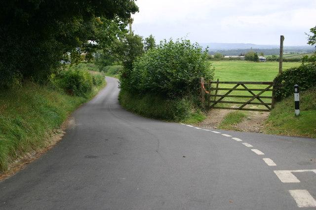Road down to Stourton Caundle