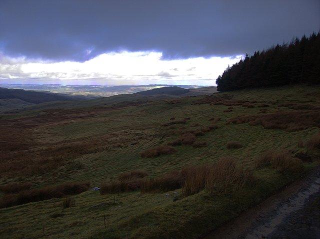 View from Bwlch Rhyd y Meirch