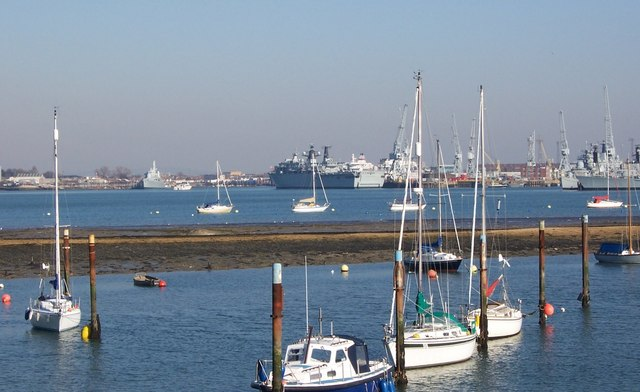Portsmouth Dockyard from Forton