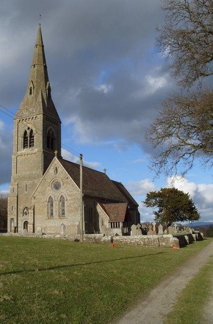 St Giles church at Downton Estate