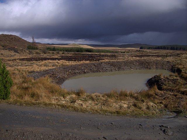 Muddy pond at Bwlch Rhyd y Meirch
