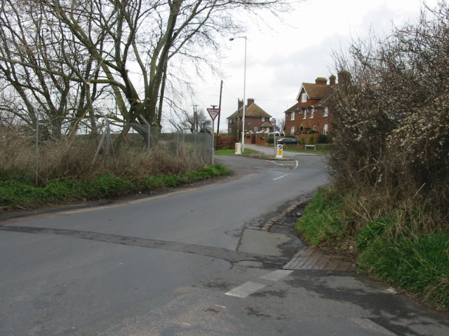 View of the junction of Seamark Road with the A28