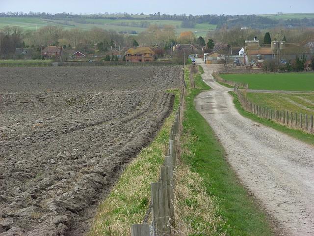 Farmland and track, Blewbury