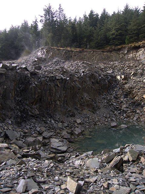 Quarry near Bwlch Rhyd y Meirch