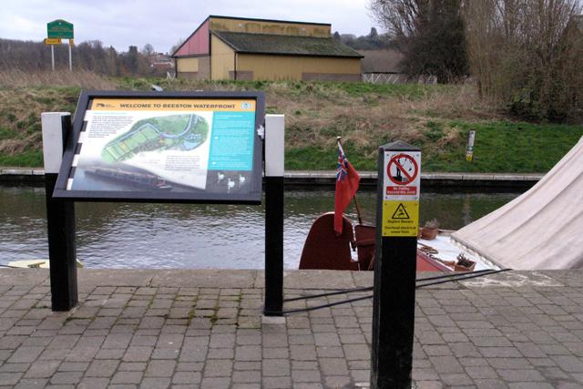 Information board, Beeston Waterfront