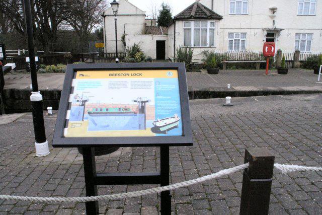 Information board, Beeston Lock