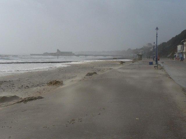 Bournemouth: windswept and sandswept