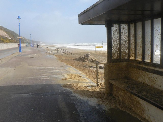 Bournemouth: sand-spattered shelter