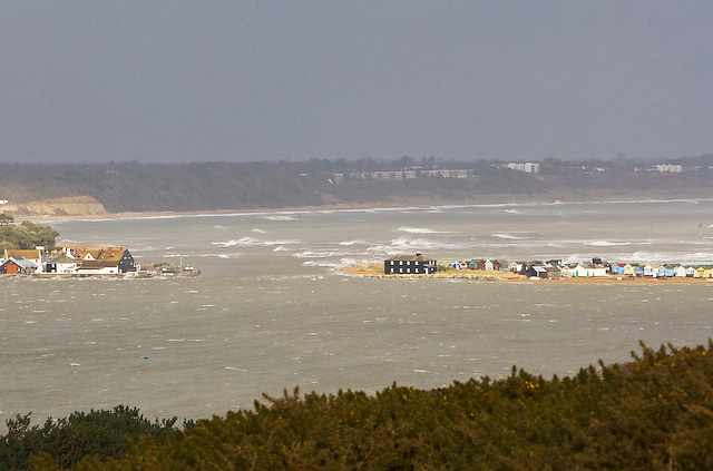 Entrance to Christchurch Harbour on a stormy day