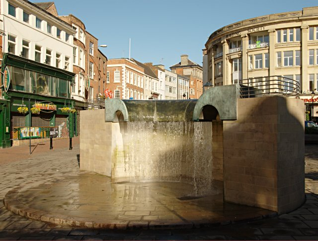 The Waterfall, Derby Market Place