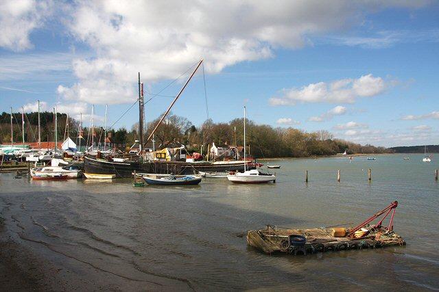 Thames sailing barge at Pin Mill