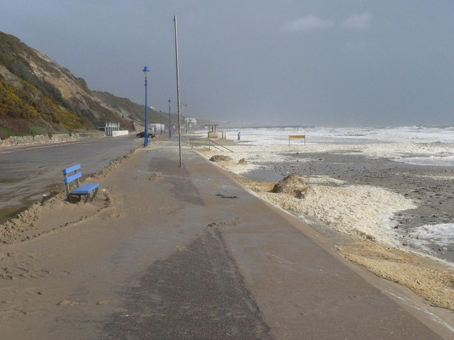 Bournemouth: prom buried in sand