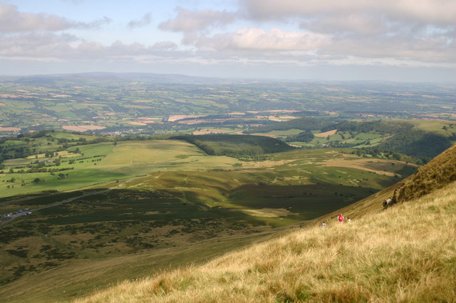 The slope of Hay Bluff